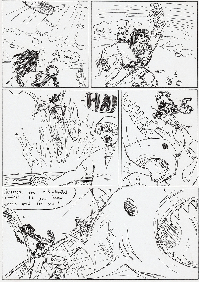 Pirate Comic page 1 by Spectre-x