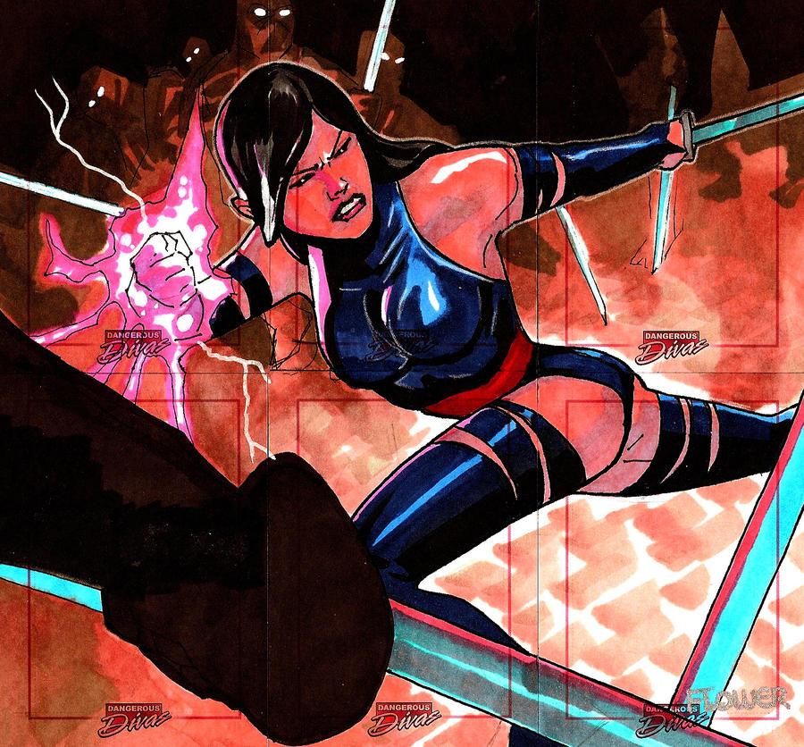 Dangerous Diva Psylocke Puzzle by Sigint