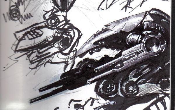 mech drawing in sharpie