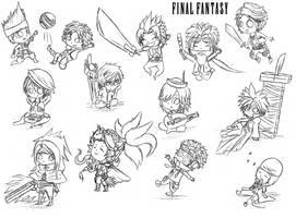 Final Fantasy Chibi dump by cold-nostalgia