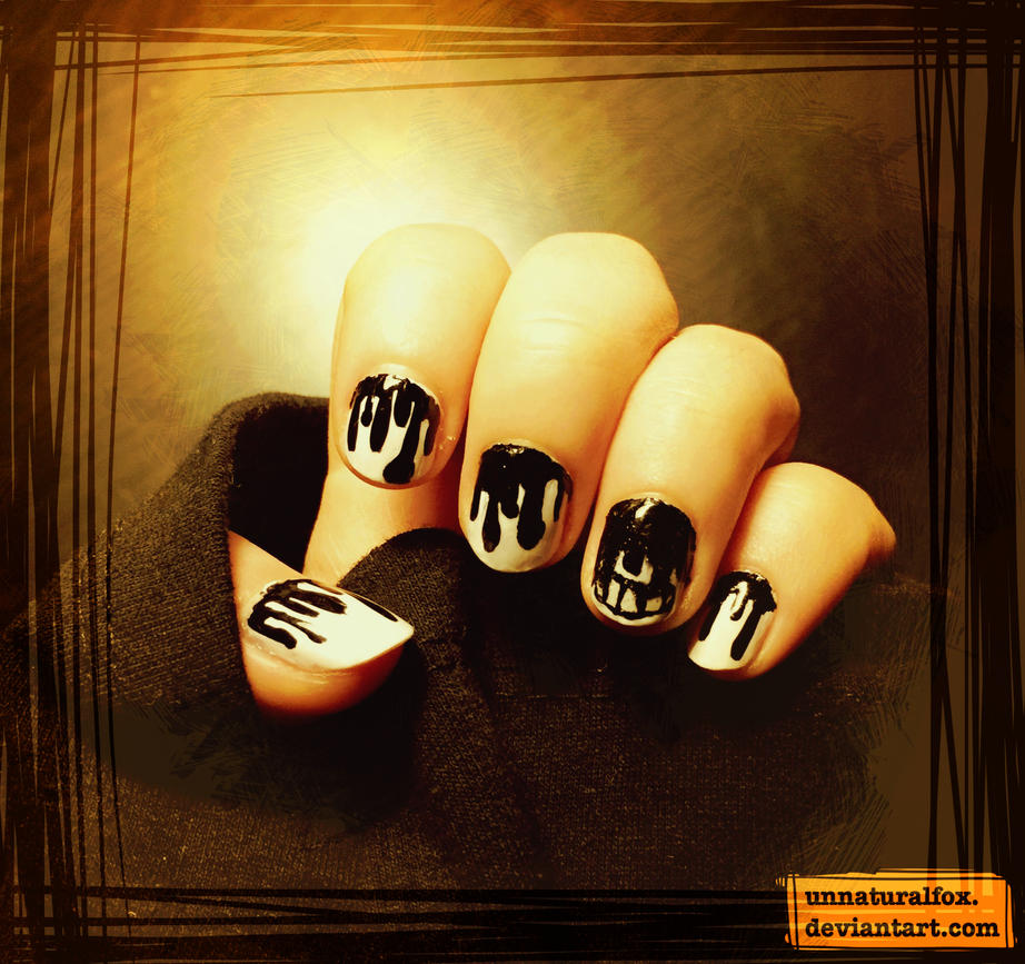 Bendy and the Ink Machine Nails by UnnaturalFox on DeviantArt