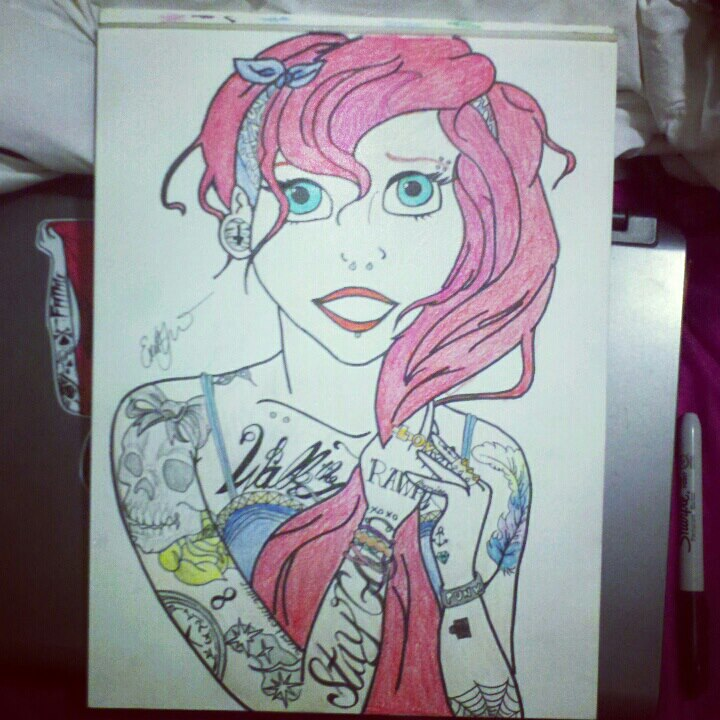 Ariel Tumblr Drawing Hipster ariel by scubbastevecx