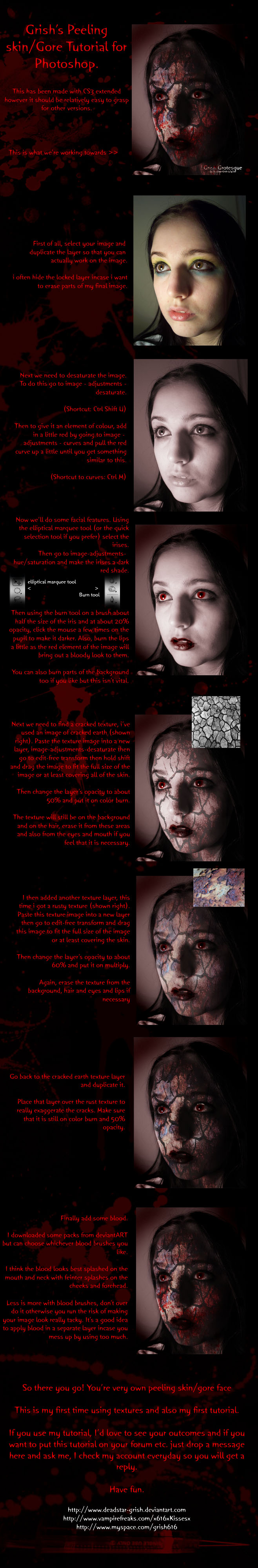 Peeling Skin and Gore Tutorial by Deadstar-Grish