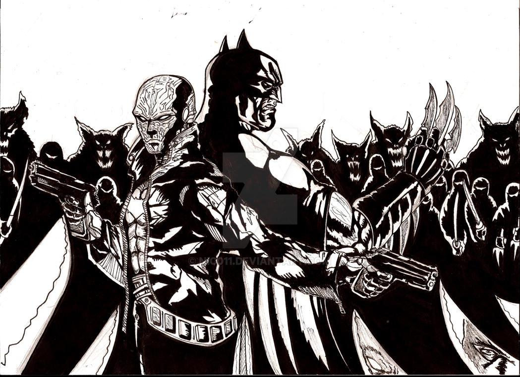 Red Hood adn batman vs the league of assasin by nic011