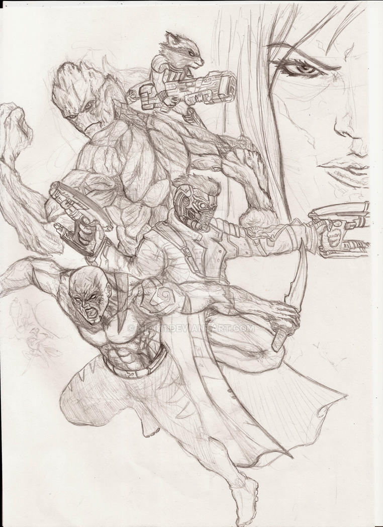 Guardians of the galaxy(pencil) by nic011