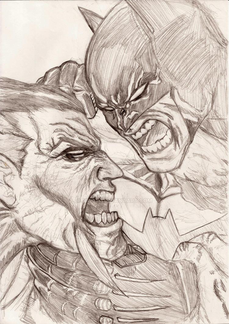 Batman Vs Rash by nic011