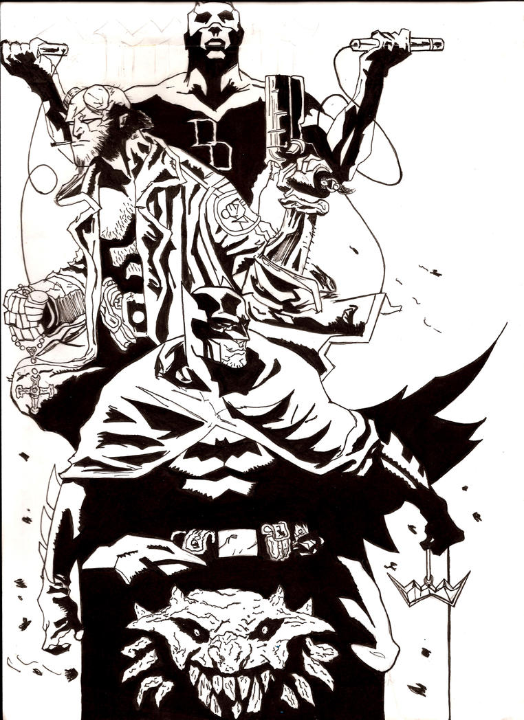 Demons..Daredevil Hellboy Batman by nic011