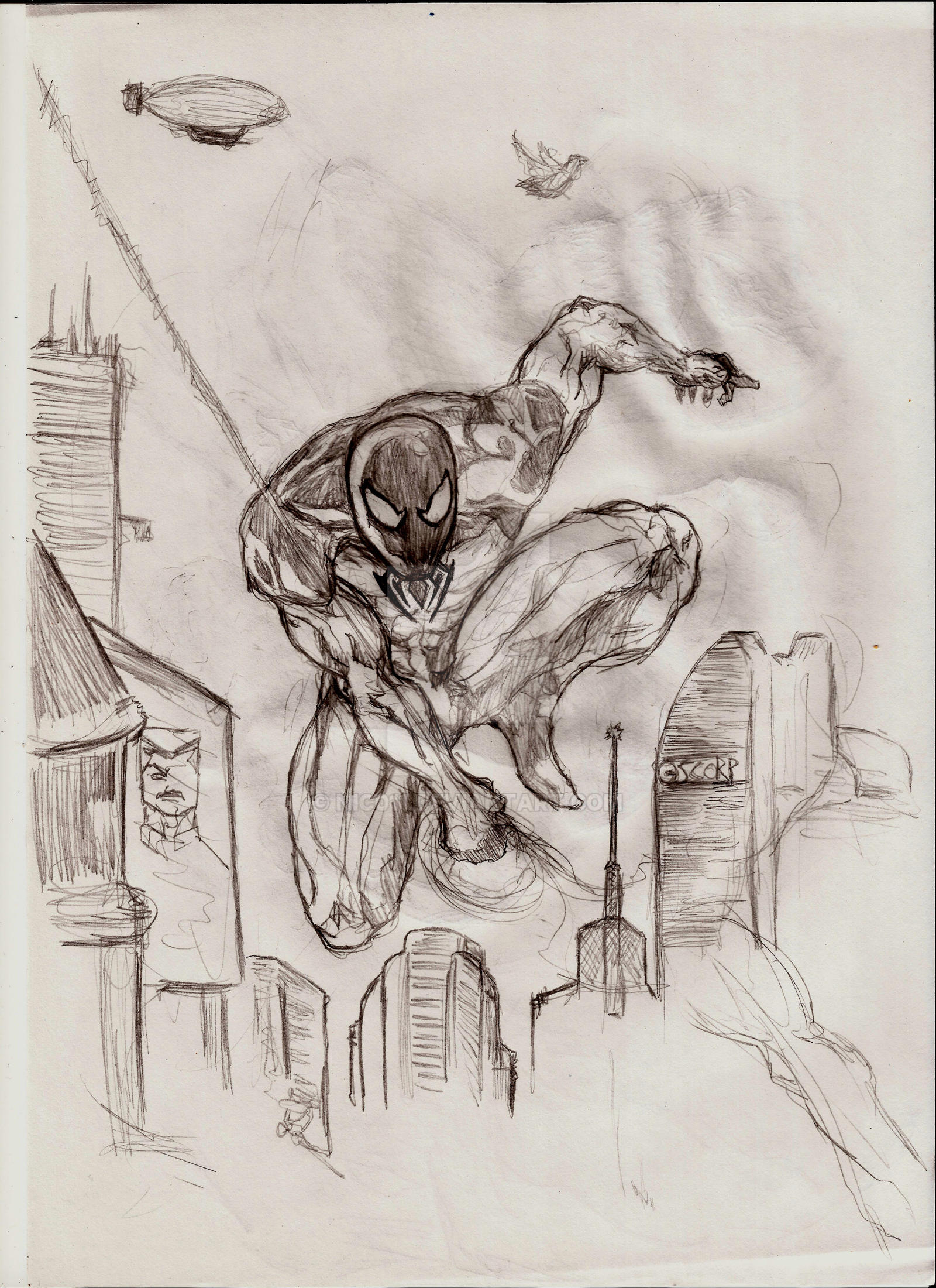 quick skecht Scarlet Spiderman by nic011