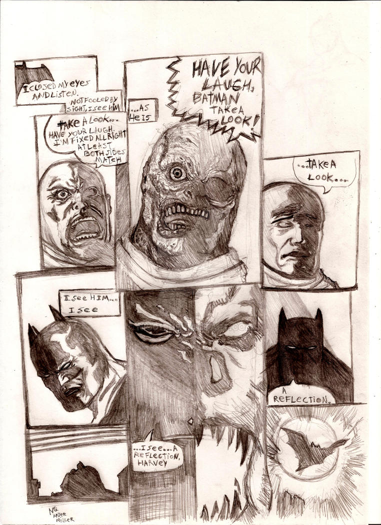 Batman two face TDKR by nic011