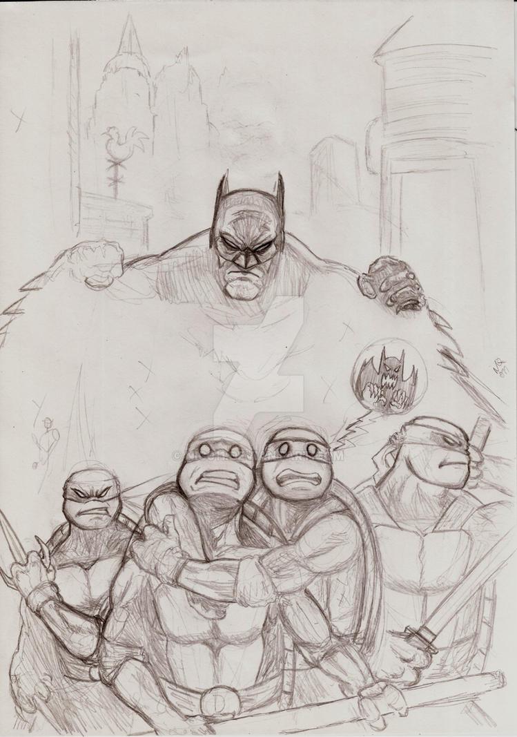 Batman TMNT by nic011