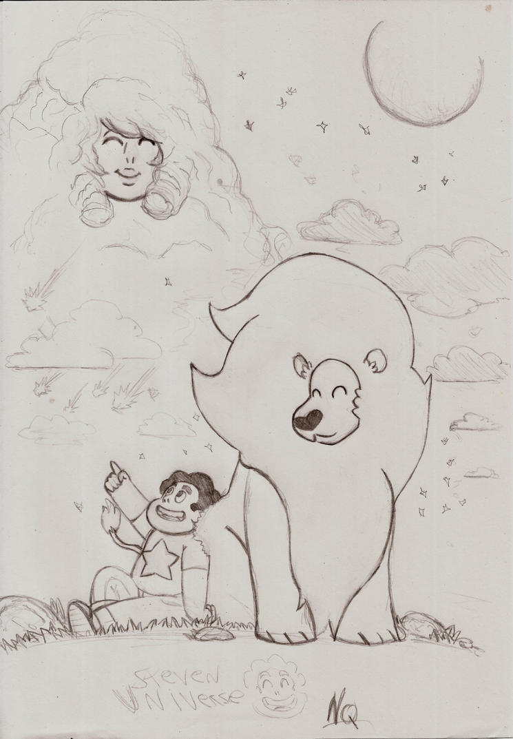 Steven Universe and his Leon by nic011