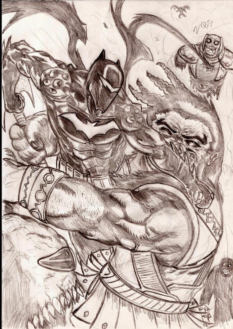 batman Hellbat vs apokolips by nic011