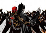 Red Hood And Batman Vs The League Of Assasin