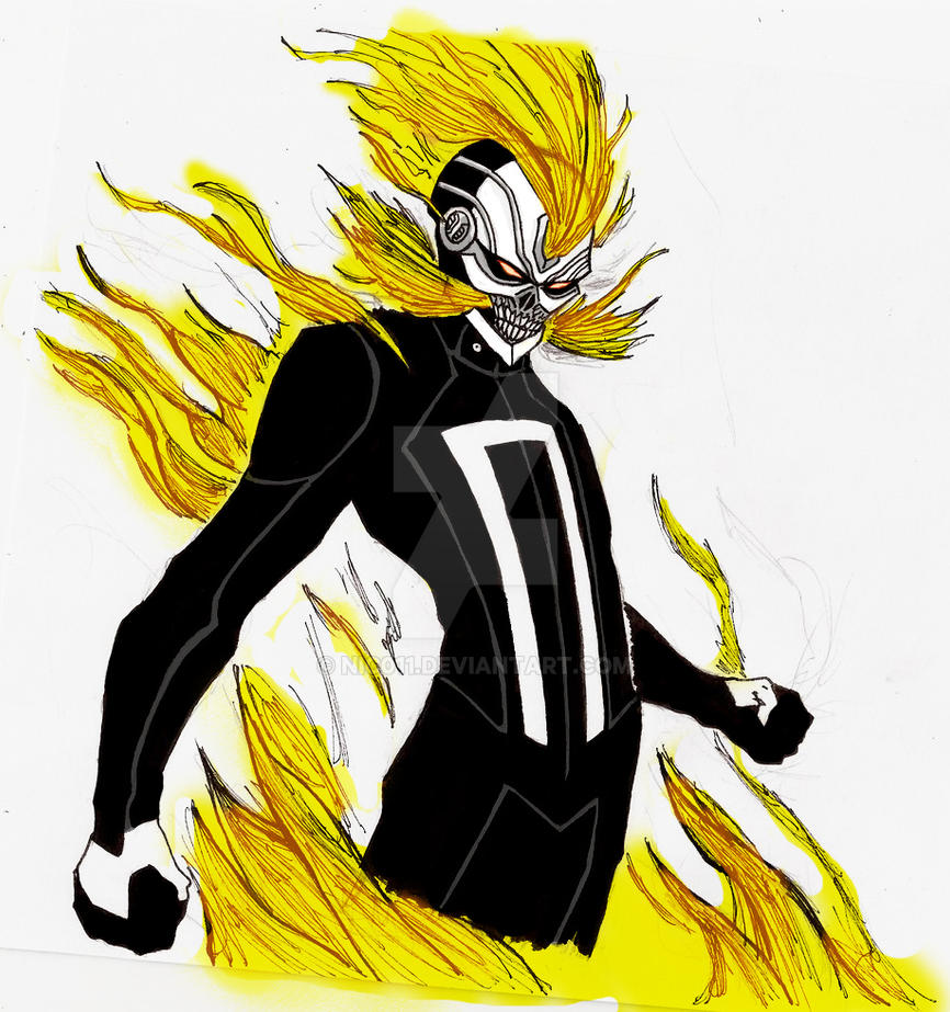 The  New  Ghost Rider colored by nic011
