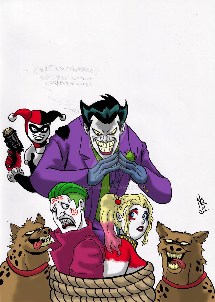 joker harley x SS Joker/Harley colored by nic011