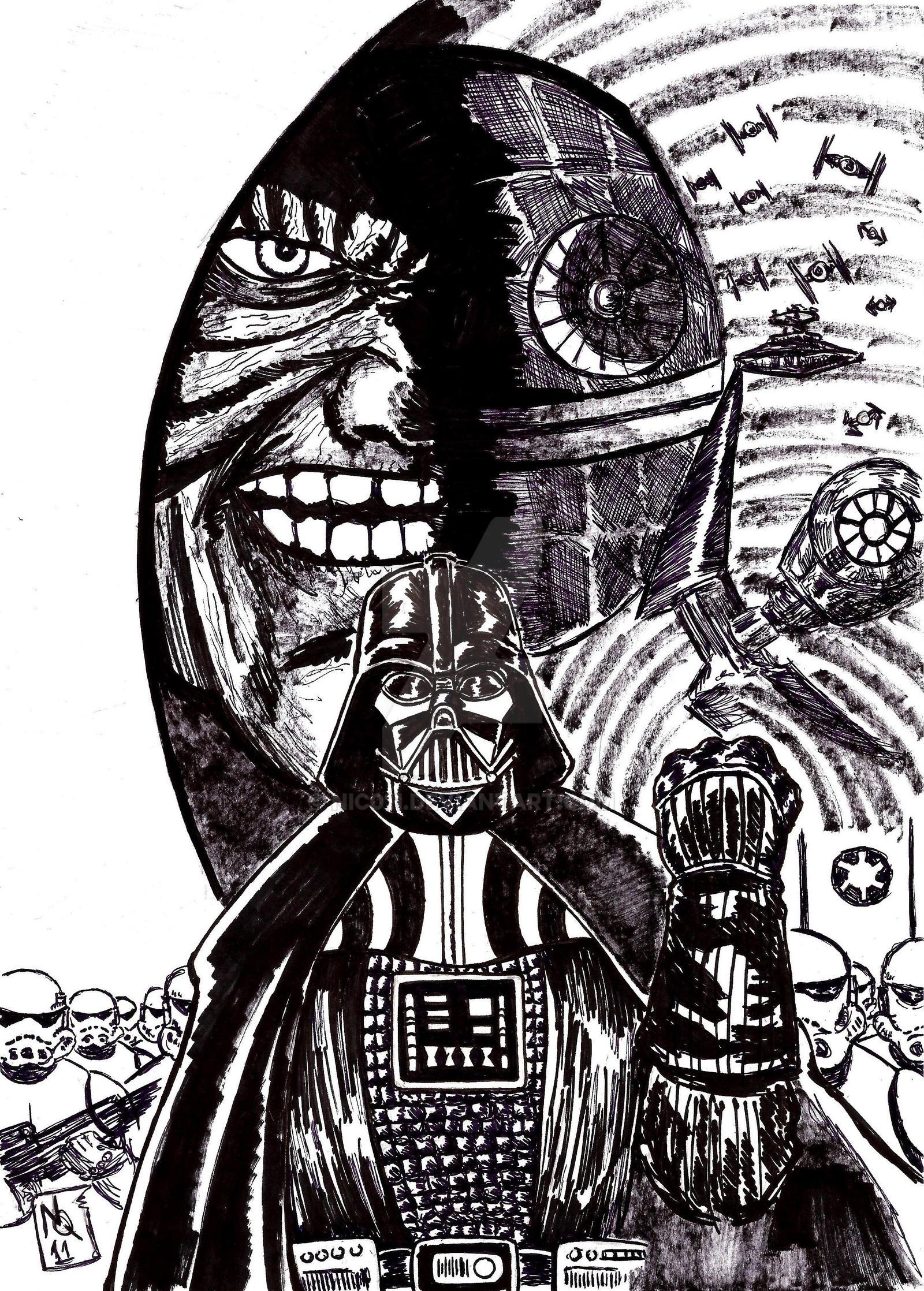 Darth Vader Ink by nic011
