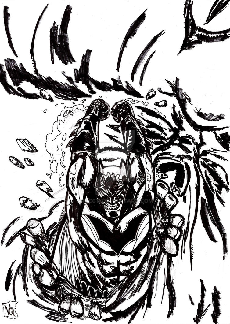 Batman Night Of The Monster Men ink by nic011