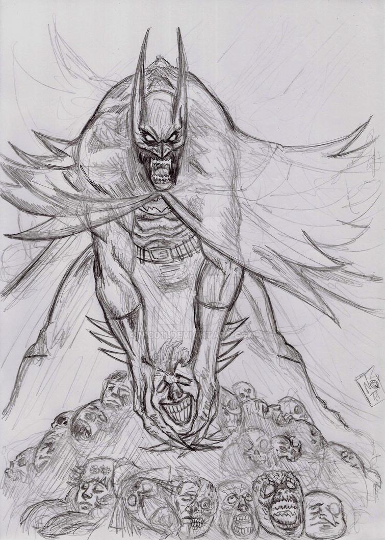 Batman crimson red by nic011