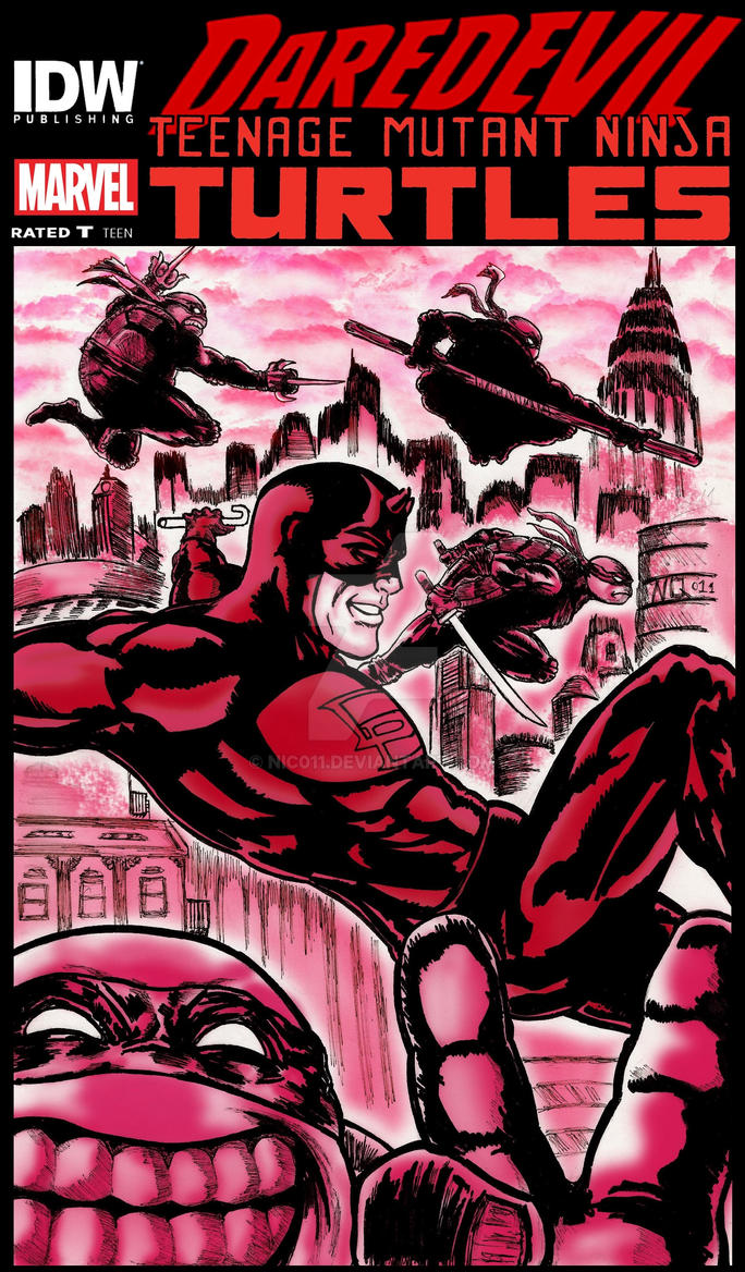 daredevil and TmnTc color by nic011