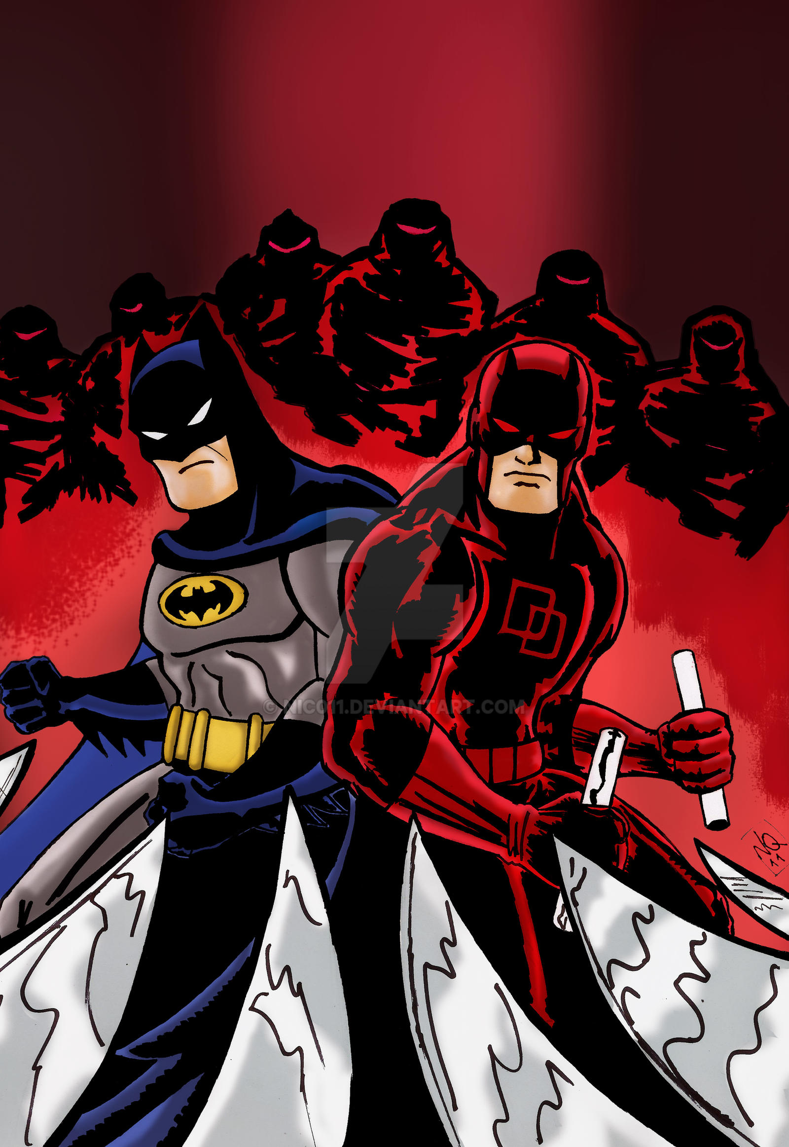 Batman daredevil adventures color by nic011