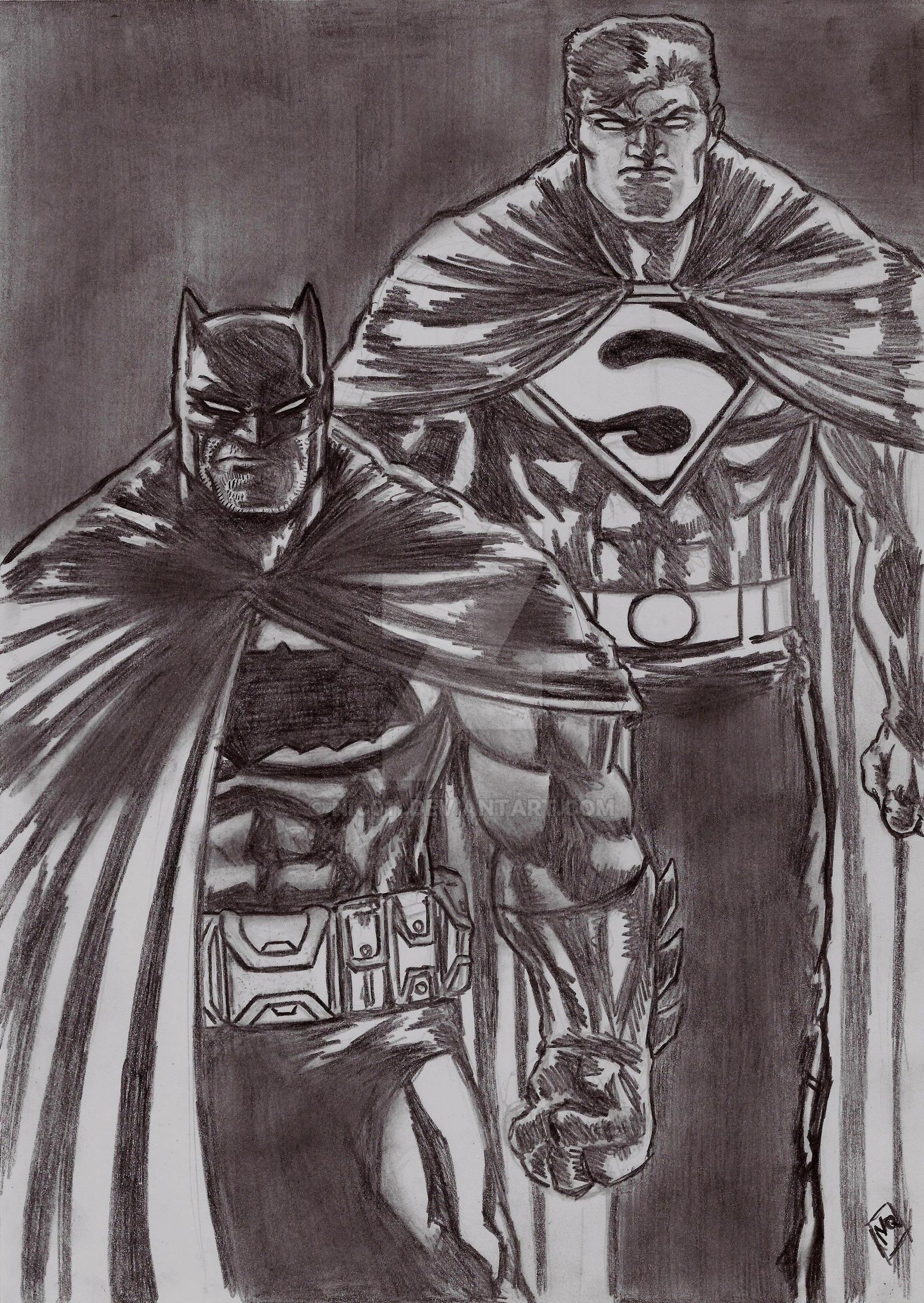 Batman Superman TDKR 3 by nic011