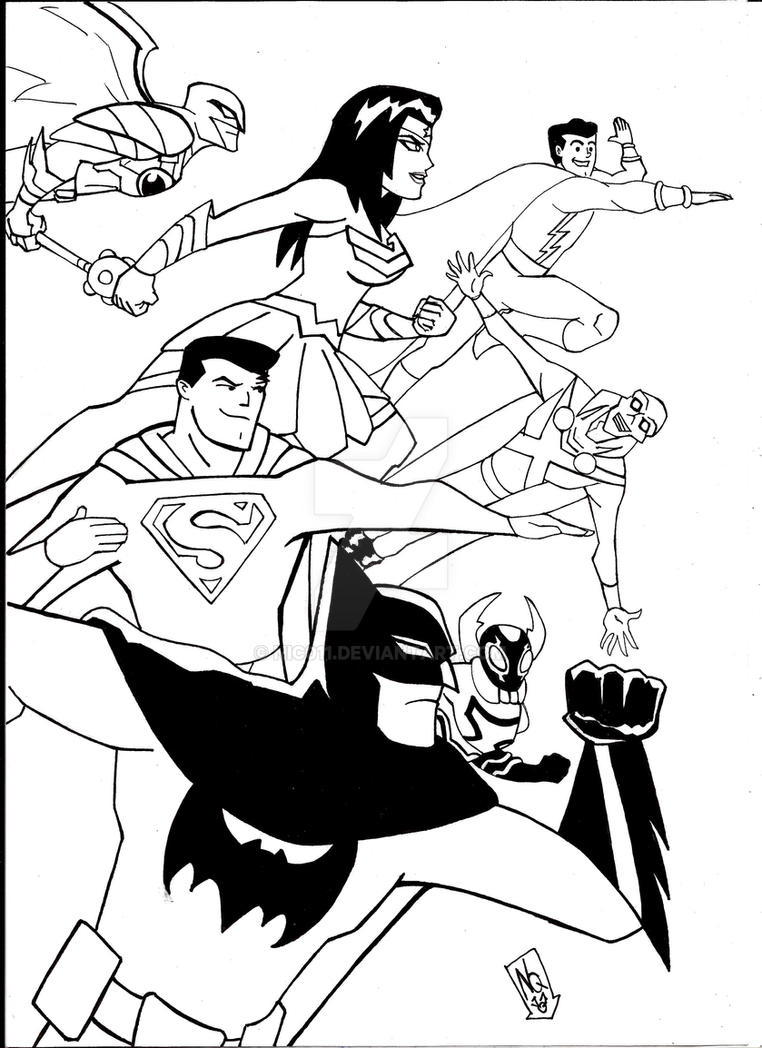 Justice league action Ink by nic011