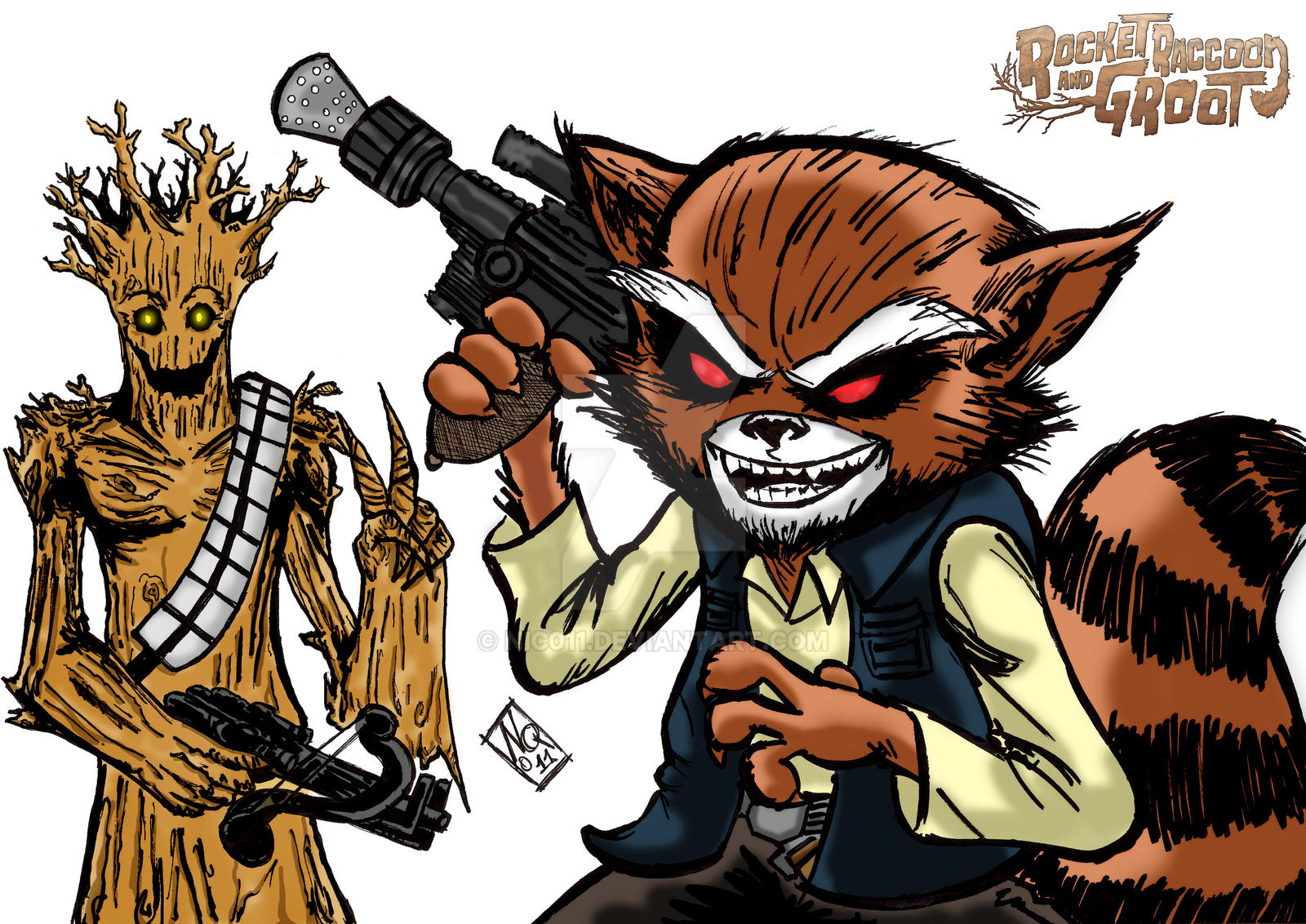 Han Roket And Chewgroot Color by nic011