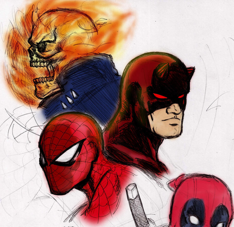 Head Shots Colored by nic011