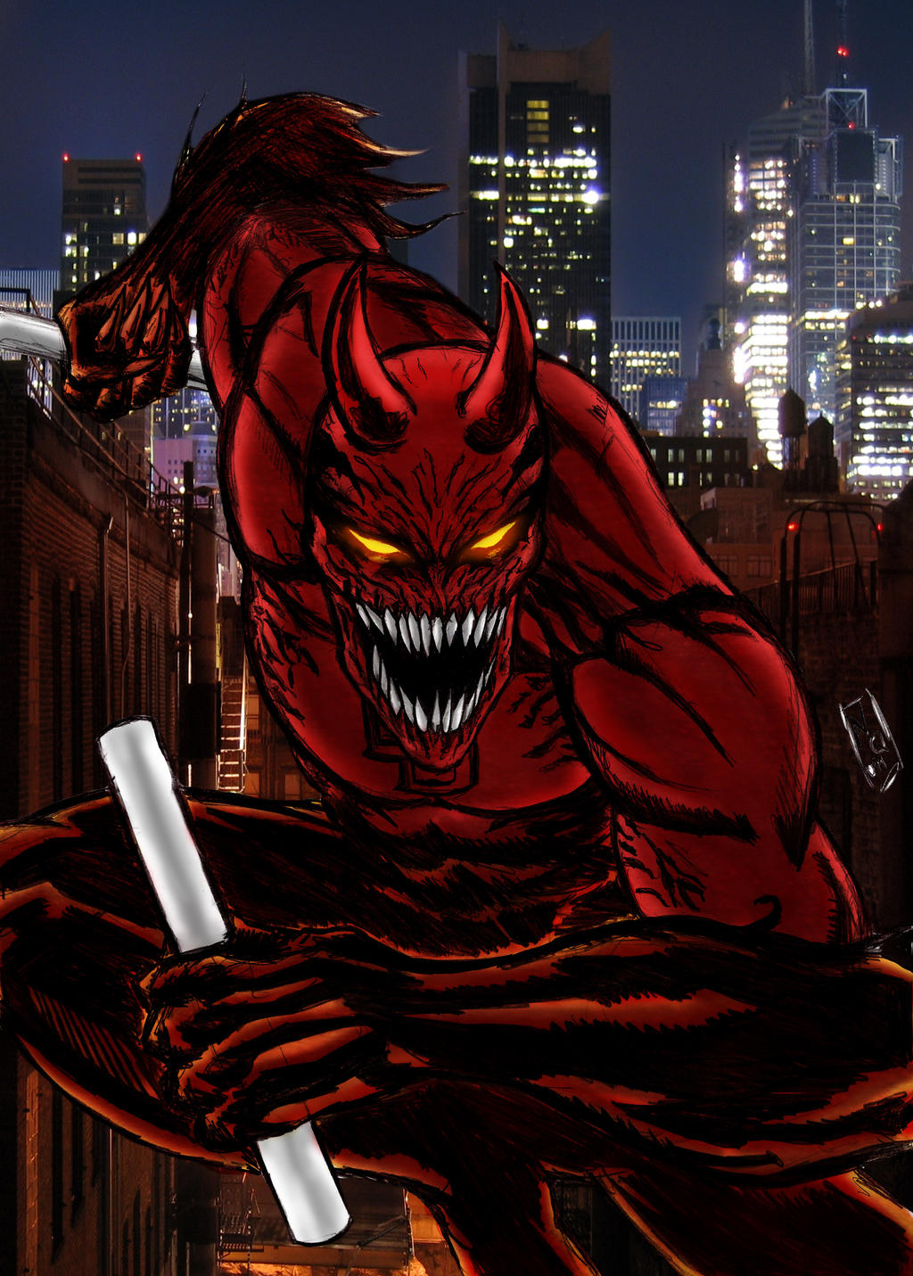 Daredevil symbiote Color by nic011