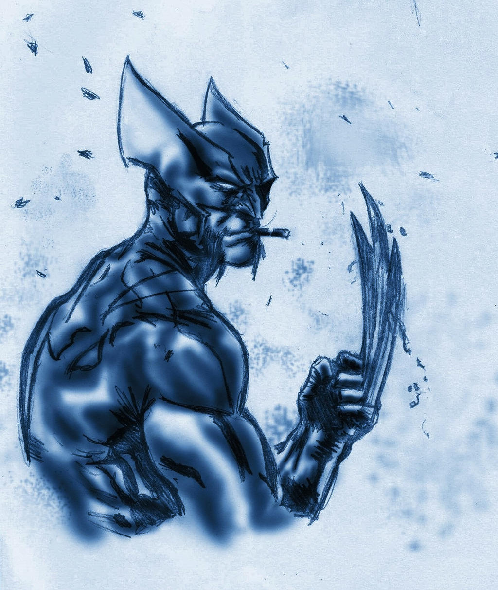 Wolverine Blue Print by nic011