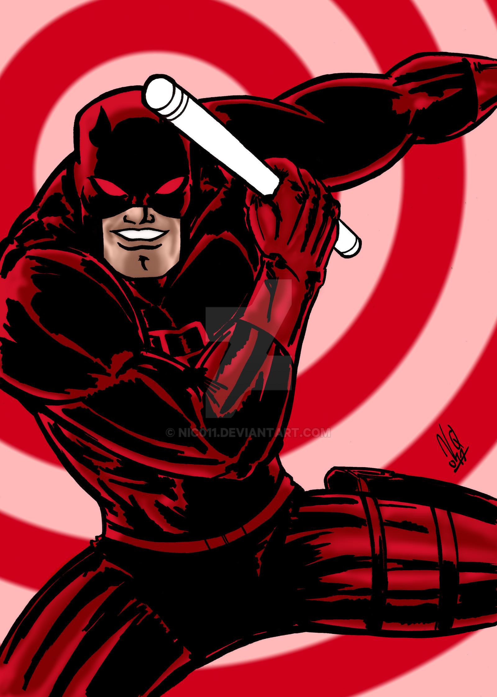 Daredevil Old School Color by nic011