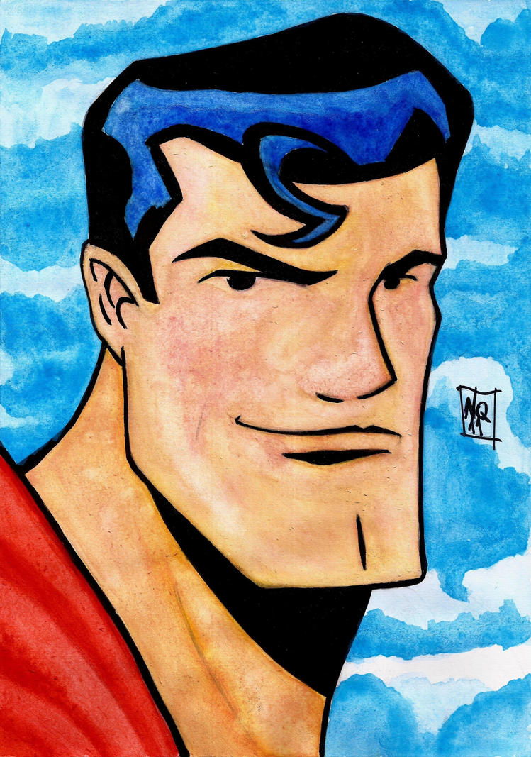 Superman Water Color by nic011