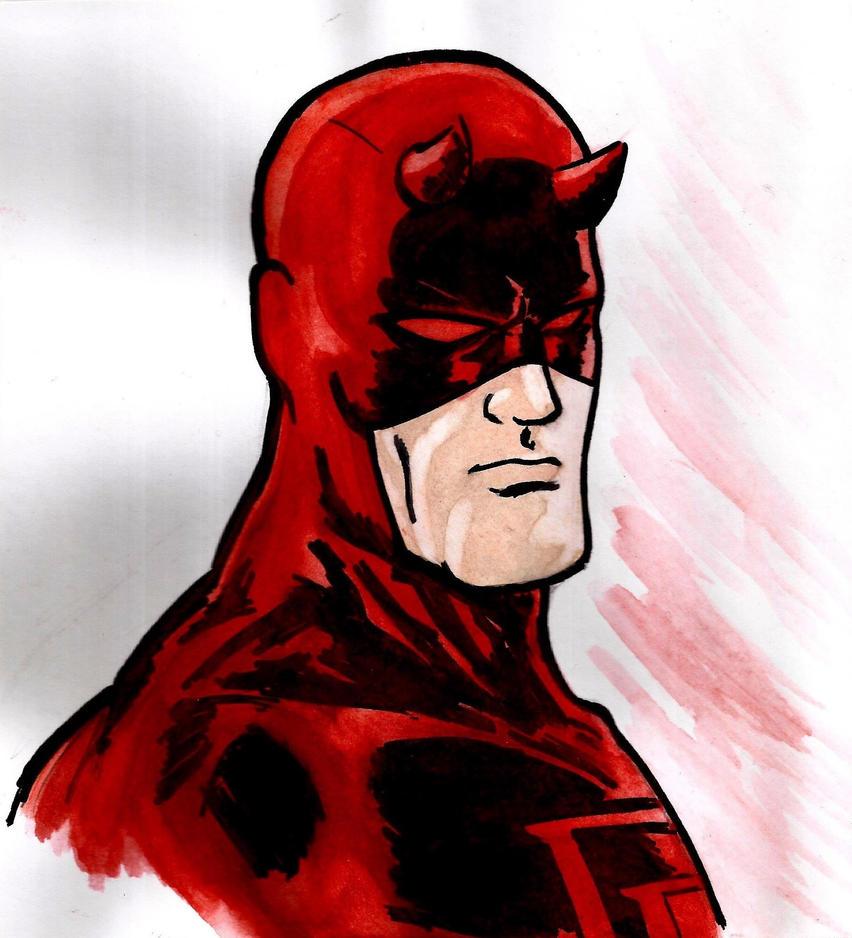Daredevil Watercolor by nic011