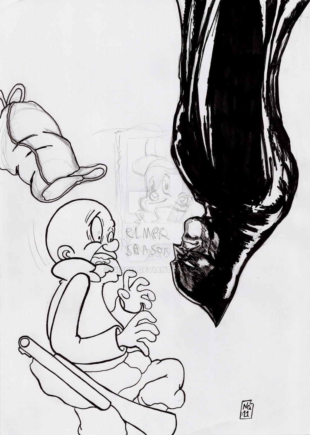 Batman/Elmer Fudd by nic011