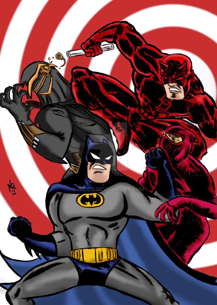 Batman Daredevil vs the hand/C.o.o by nic011
