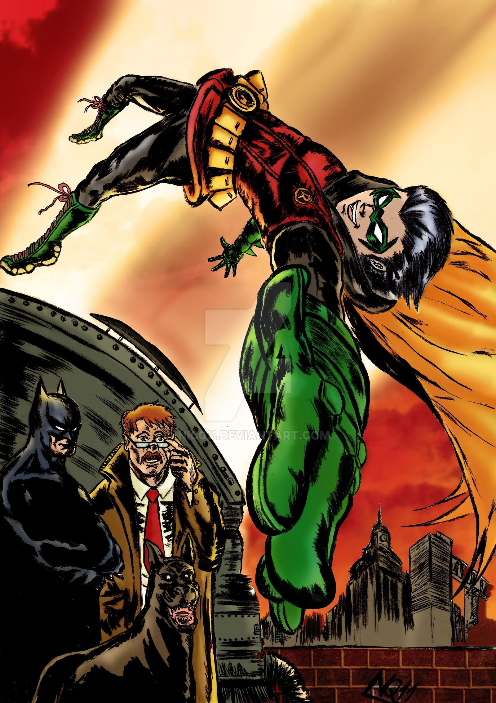 Batman And Robin colored by nic011