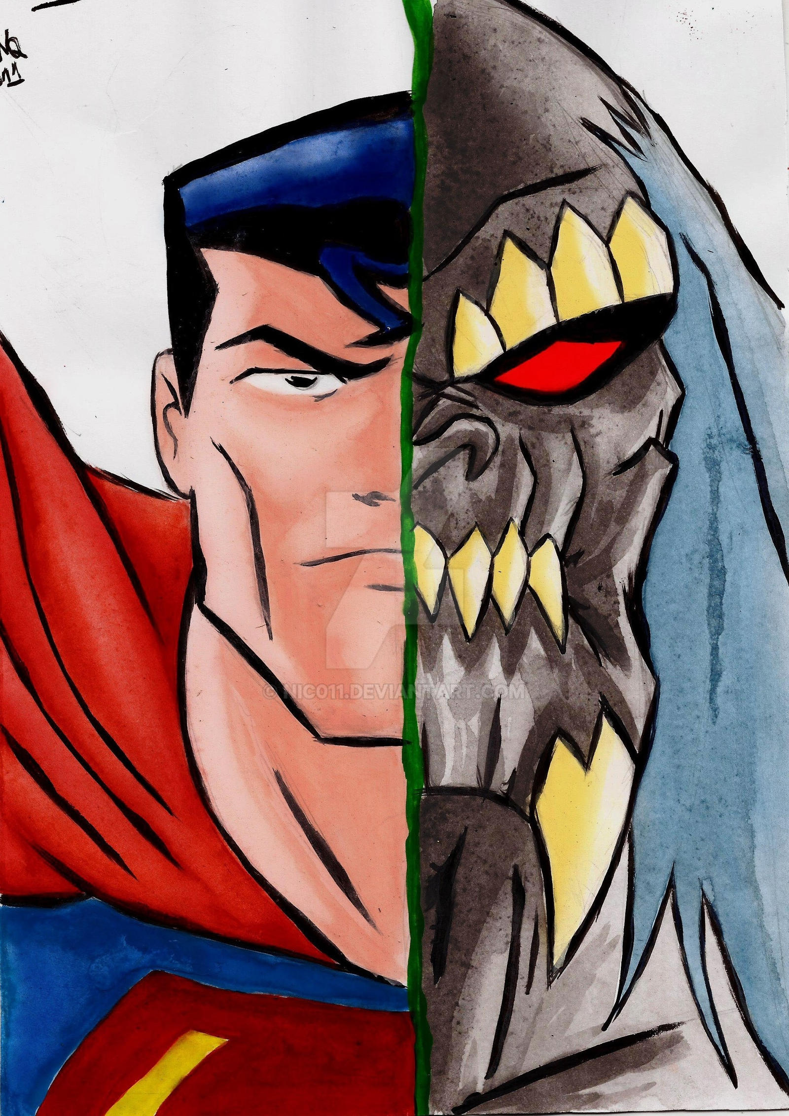 Superman/Doomsday by nic011