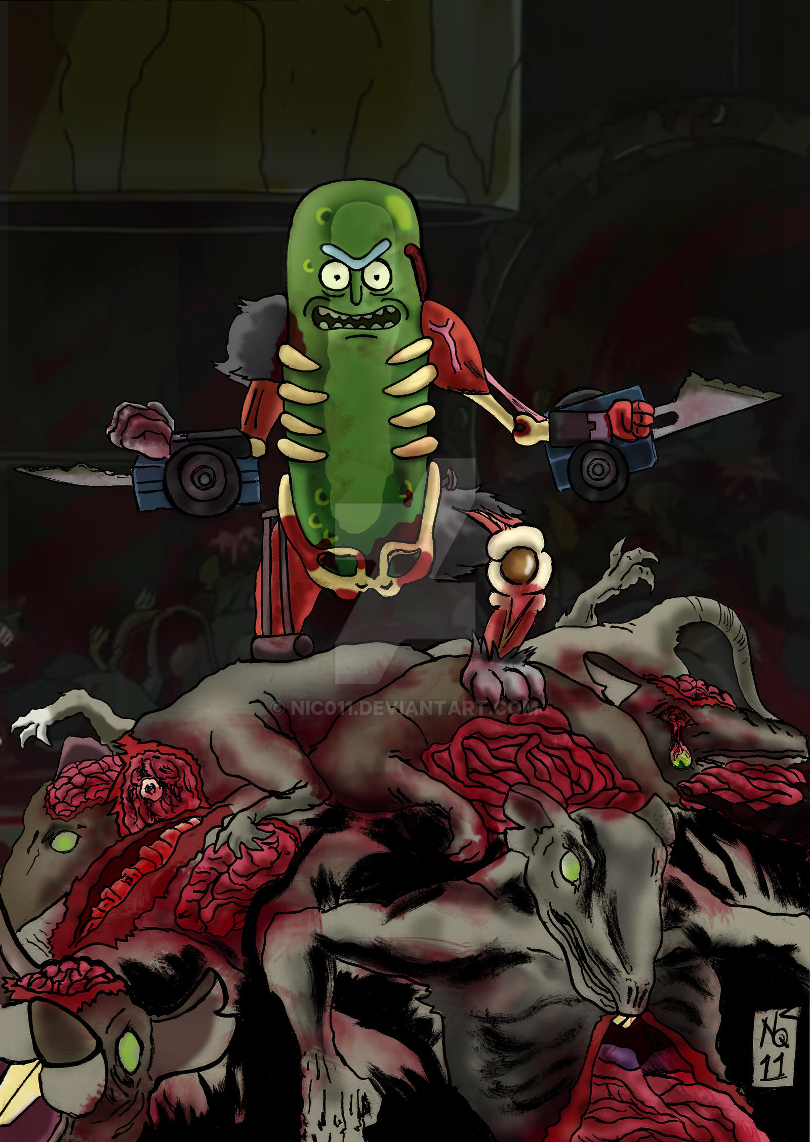 Pickle Rick by nic011