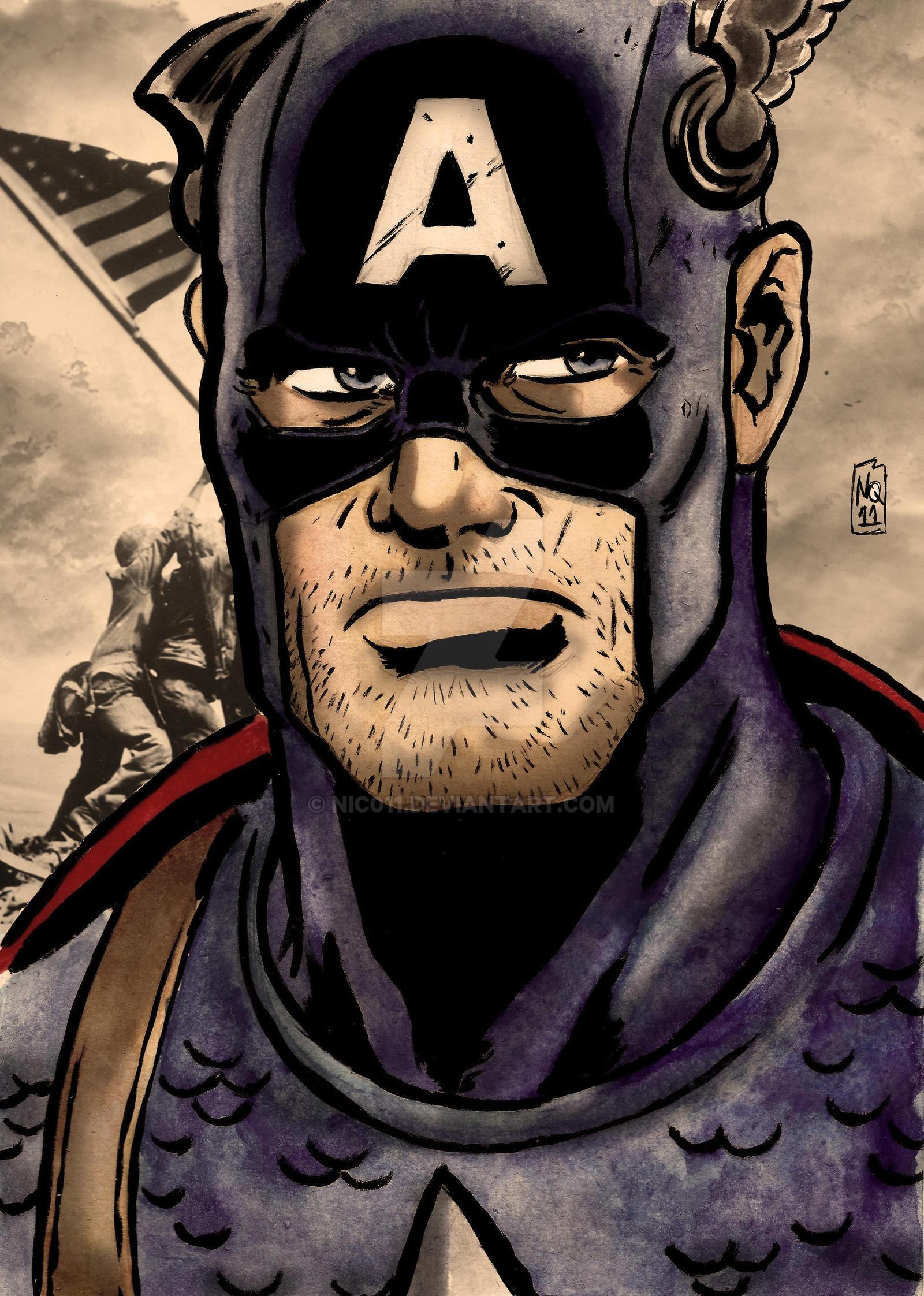 Cap America WW2 by nic011