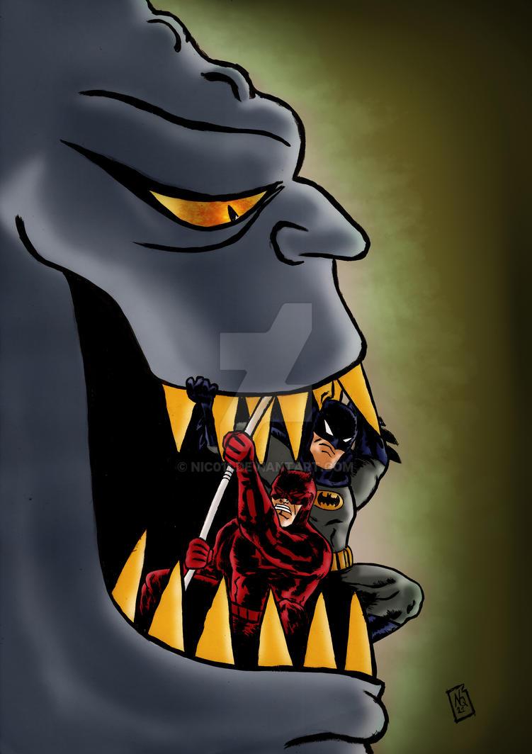 Batman Daredevil adventures! by nic011