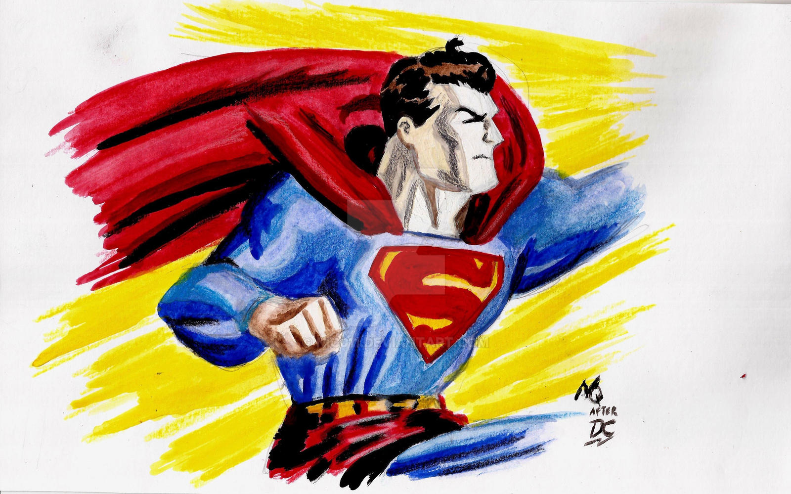 Superman watercolors by nic011