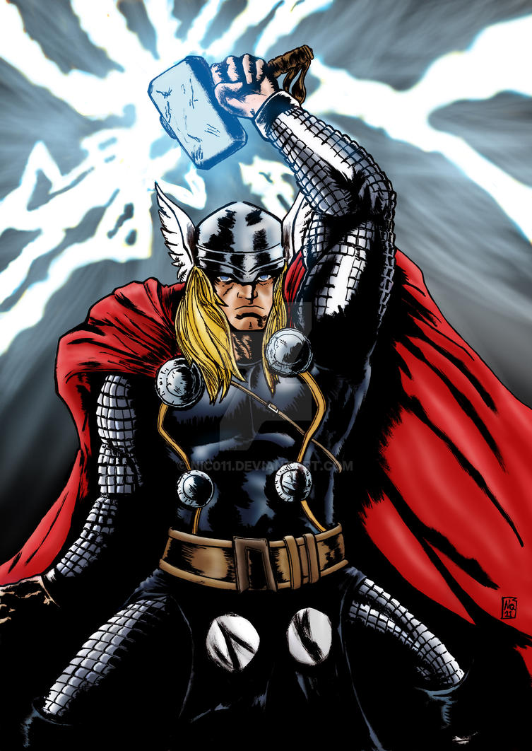 mighty Thor color by nic011