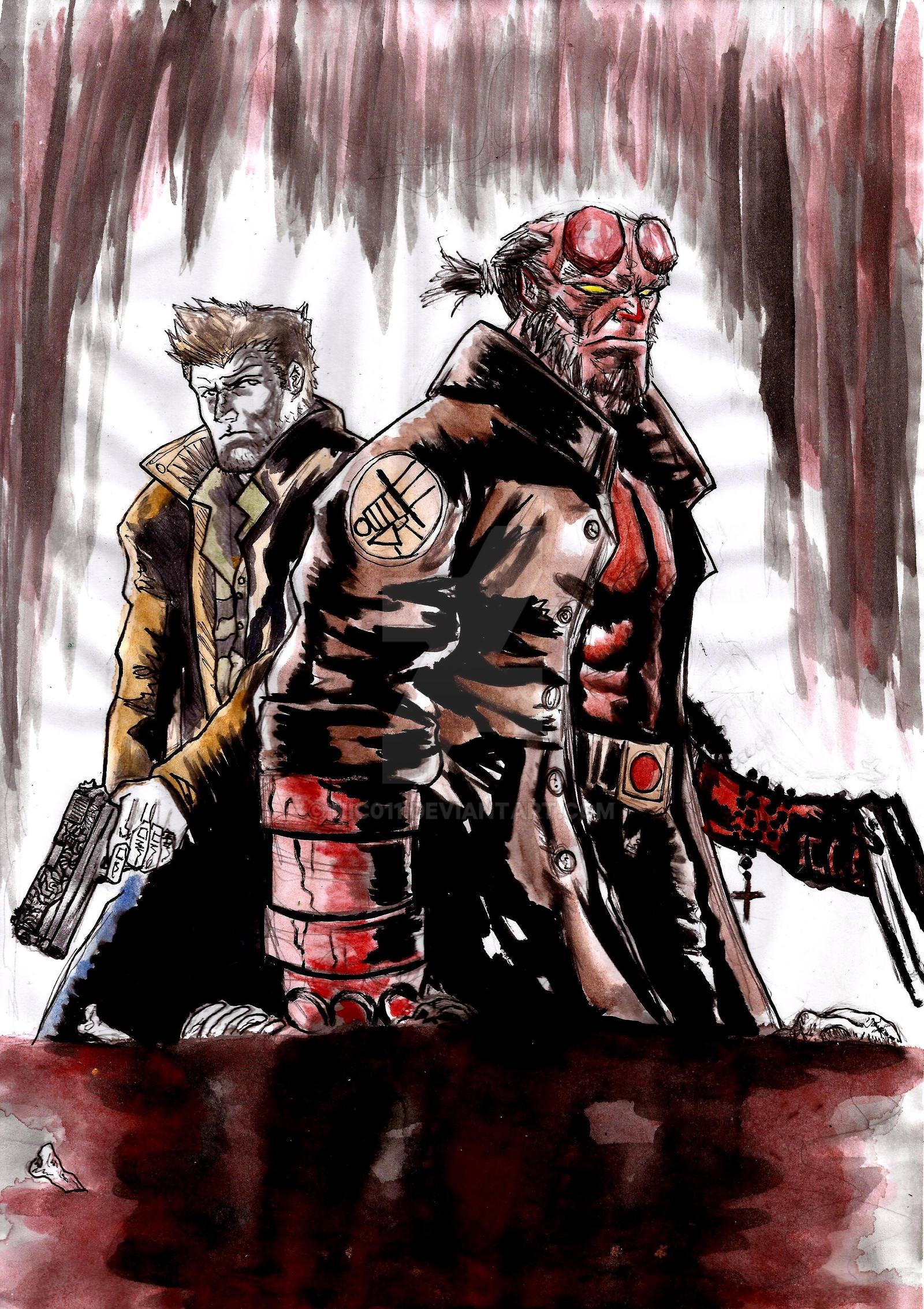 Supernatural/ Hellboy by nic011