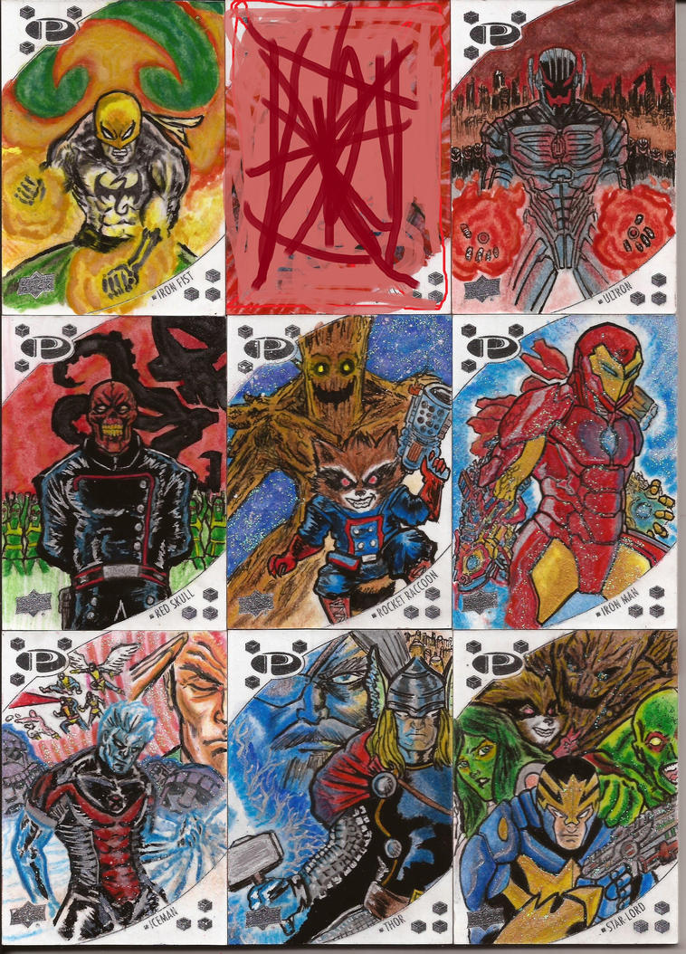 Marvel Upperdeck sketch card by nic011