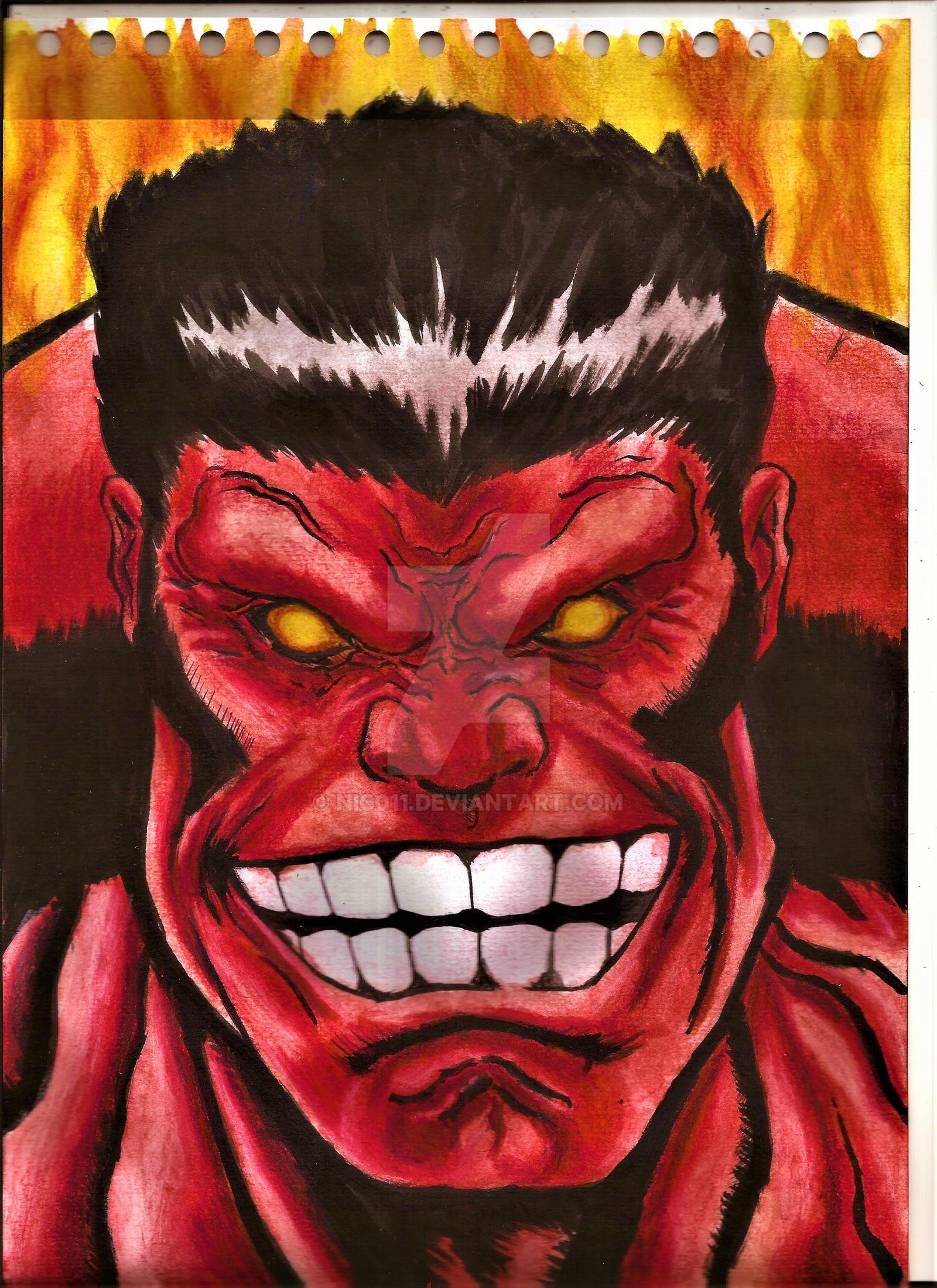 Red Hulk by nic011