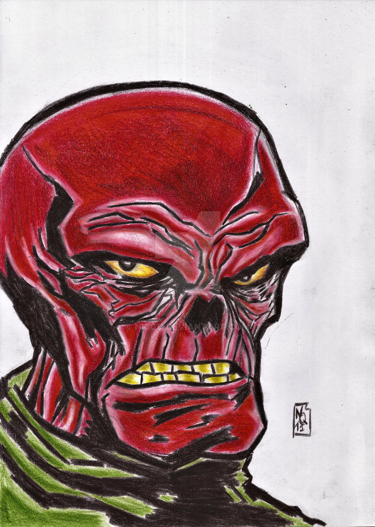 red skull by nic011