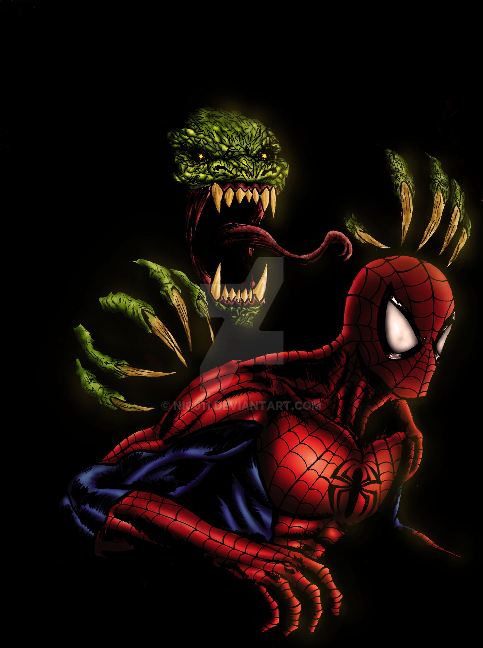 Spiderman Vs Lizard by nic011 on DeviantArt