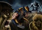 Hulk vs Wolverine vs wendigo