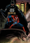 batman and spiderman by nic011