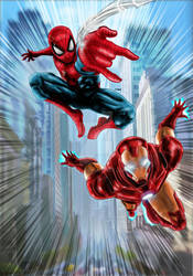 Spider-man And Ironman by nic011